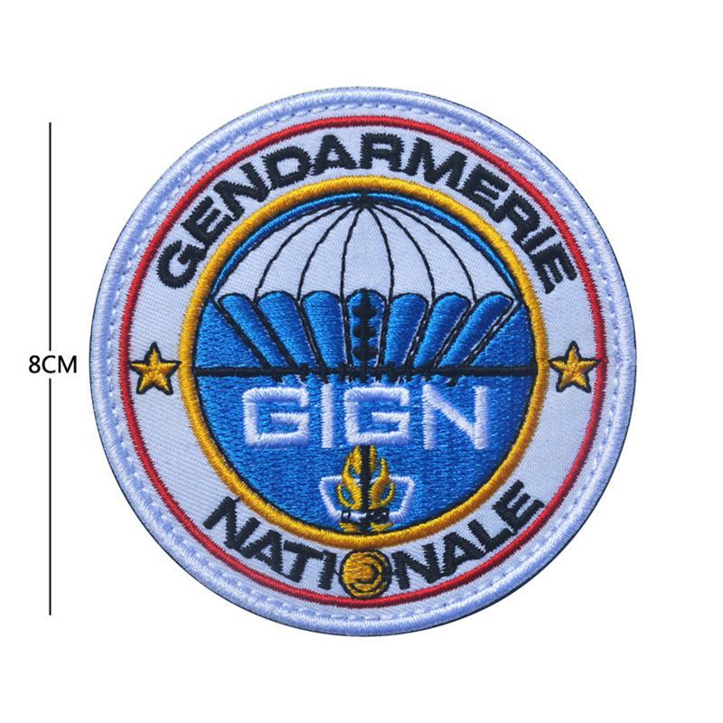 Ohrong GIPN Parche bordado Francia Polic/ía t/áctica moral parche arma insignia emblema con gancho y lazo para gorra militar abrigos mochila