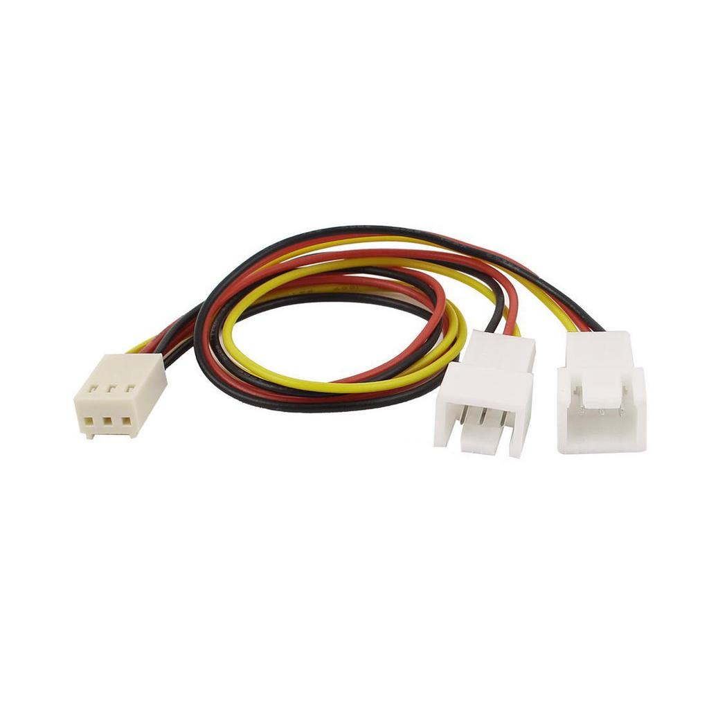 Pc Splitter Extension Cable To Double Male Fan 3 Pin Female 20 Cm Power 3pin 2pin Y Wire On 2 Of