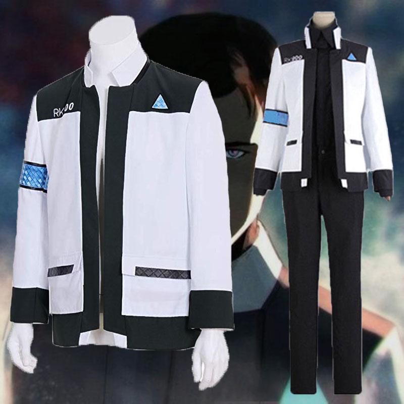 Detroit Become Human Connor RK900 Cosplay Costume Jacket Uniform Suit Halloween