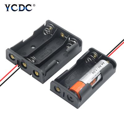 1//2//3//4//6x AAA Battery Holder Snap On With Switch With Connector Open Enclosed