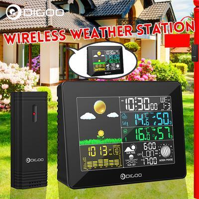 Portbale termômetro previsão do tempo estação LCD cor tela ...