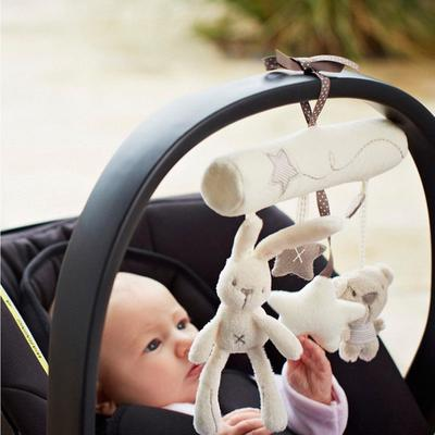 Cradle Toy Hanging Rattle Baby Plush Soft Toy Rabbit Musical Mobile Products