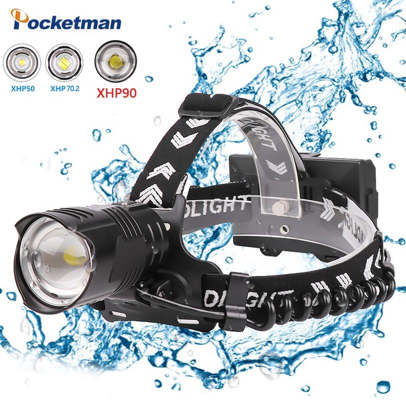 90000LM P70 LED Zoom Headlamp Headlight USB Rechargeble Hunting Fishing Torch
