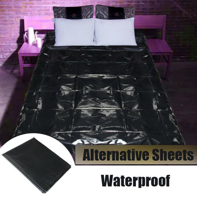 220x200cm Waterproof Bed Sheets S-e-x PVC Vinyl Mattress Cover Allergy Relief Bedding Sheets Sizes