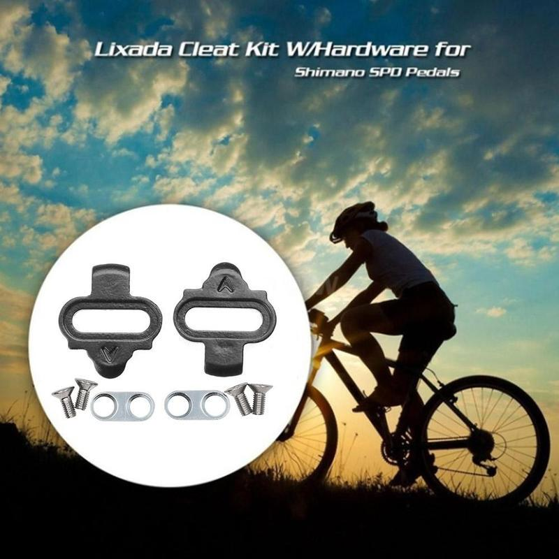 1 Pair Lightweight Self-Locking Pedals Cleat Set for Road Racing Bike Cycle