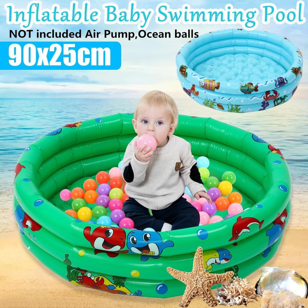 90cm Baby Kids Swimming Pool Inflatable Pool 3 Layer Bathtub Outdoor Indoor Fun Buy From 19 On Joom E Commerce Platform