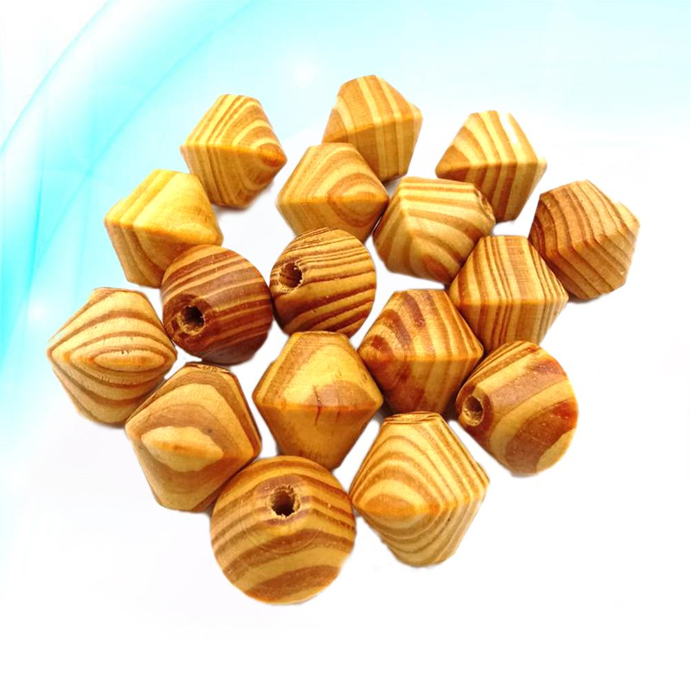 50 Natural Wood Gourd Large Hole Wooden Beads for Macrame Jewelry Crafts DIY