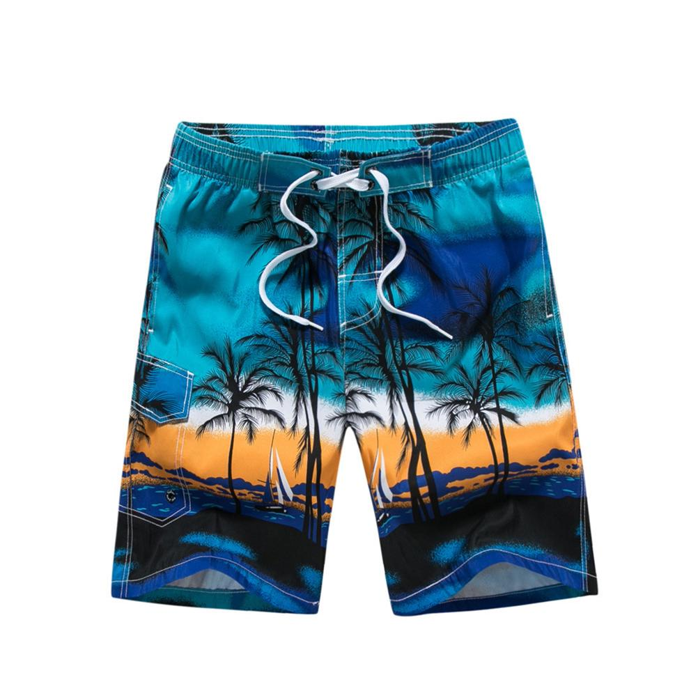 Mens Quick Dry Beach Shorts Color Floral Whale Floral Boardshorts Swim Surf Trunks