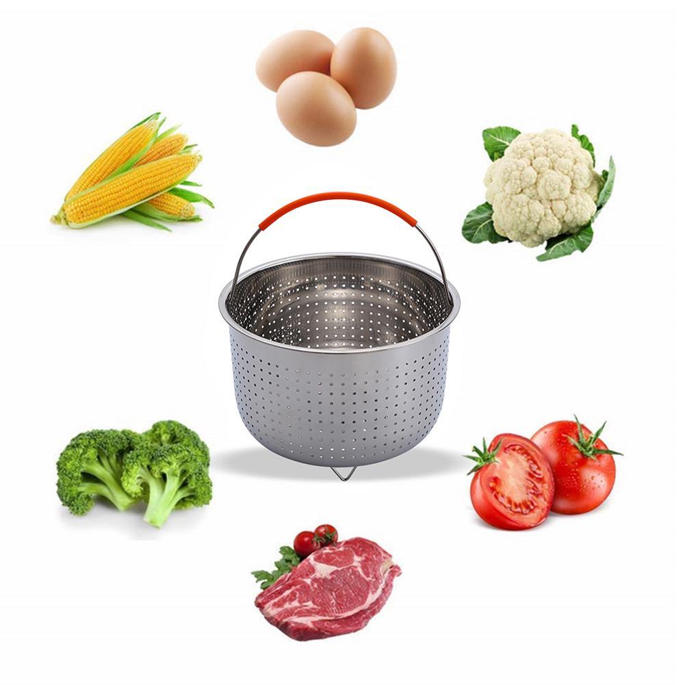 1PC Steamer Basket Durable Stainless Steel Egg Steamers Strainer for Instant Pot