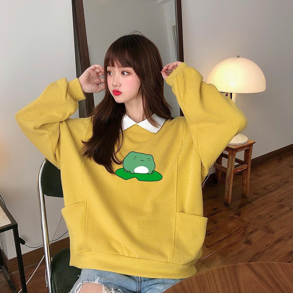 Oversize Womens Girls Hoodie Sweatshirt Hooded Sweater Hoody Pullover Jumper Top
