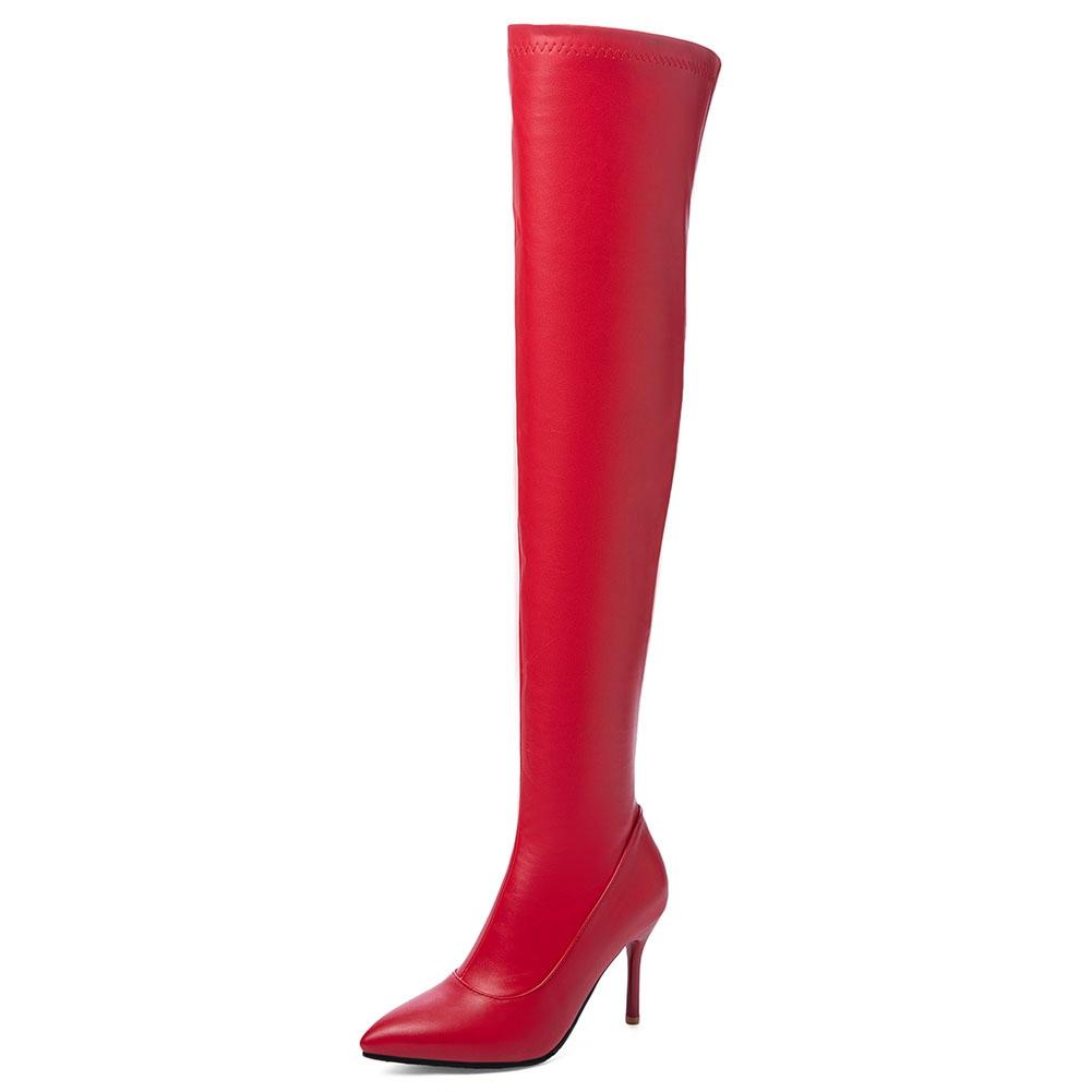 Details about  /Women Studded Mid-Calf Boots Knee High Cuban Heel Smart Party Shoes New Zhq03