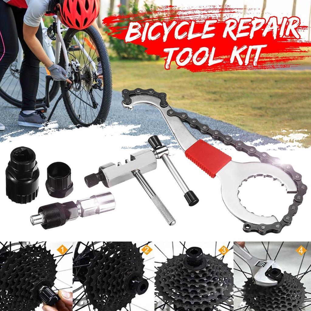 Bicycle Remover Repair Tool Kits Bike Chain Breaker//Bracket Remover J6P9