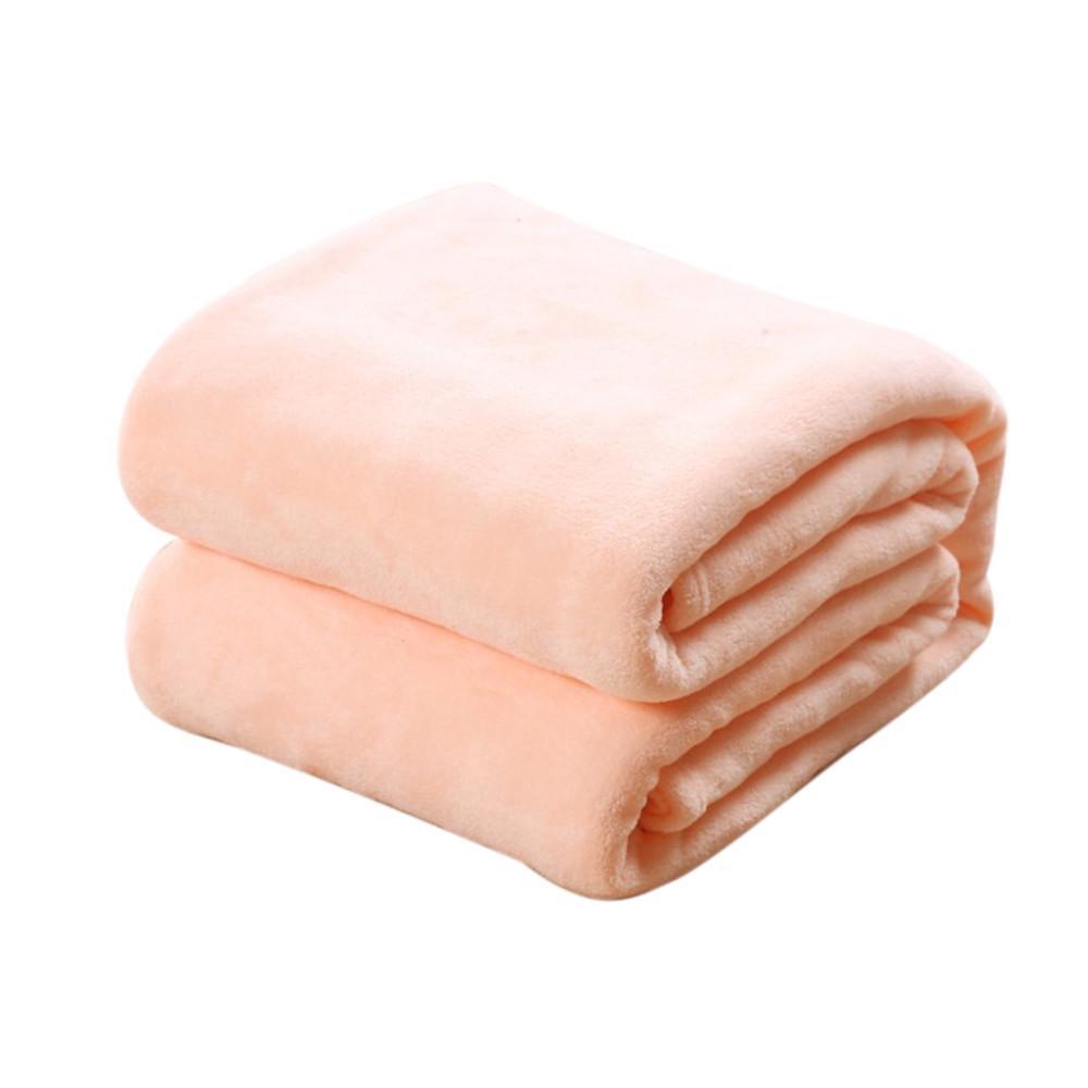 Home Winter Warm Solid Micro Plush Fleece Blanket Throw Rug Sofa Bedding Mat Rug