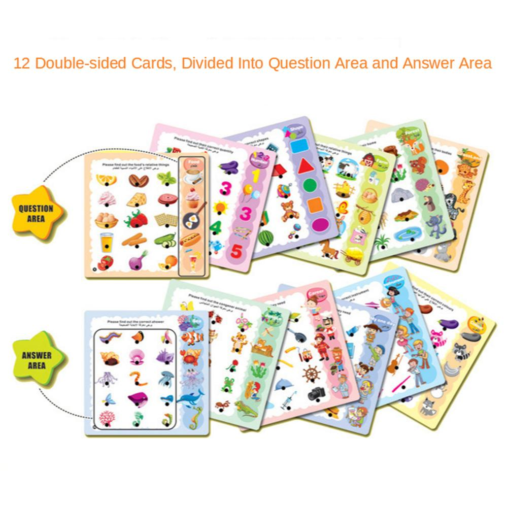 Learning Pen with 12Pcs Reading Cards Kids Baby Toddler Early Learning Toys Gift