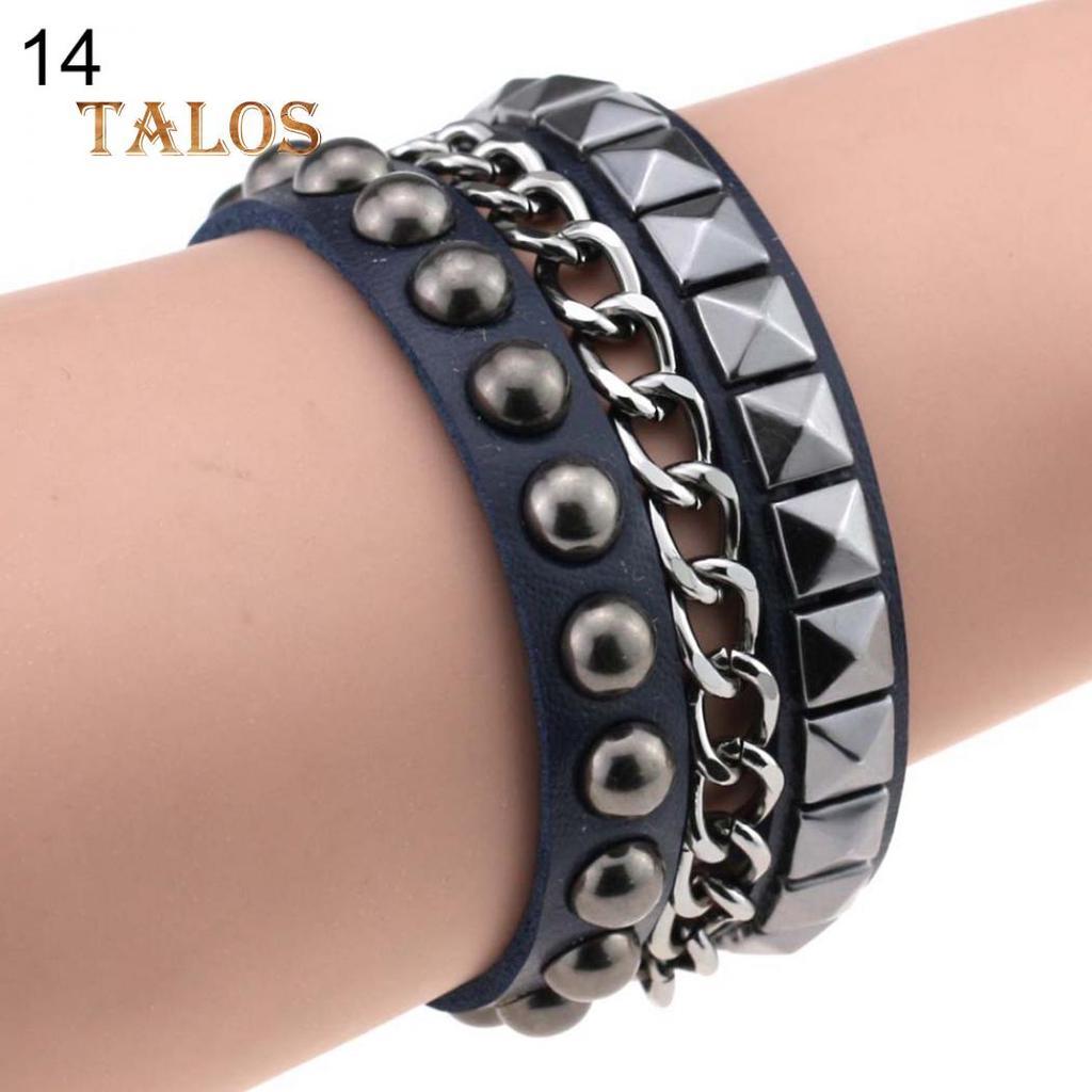 Unisex Gothic Punk Charm Pagan Rock Bracelet Silver Bracelet Jewelry Chain