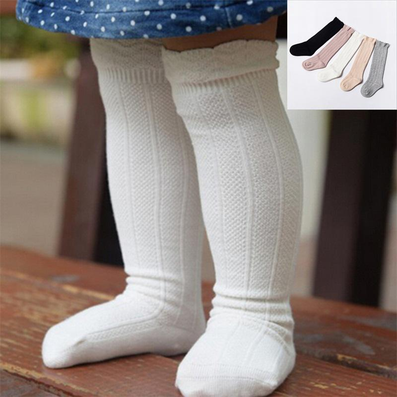 Baby Toddler Girls Cotton Knee High Socks Tights Leg Warmer Stocking For 0-3Y