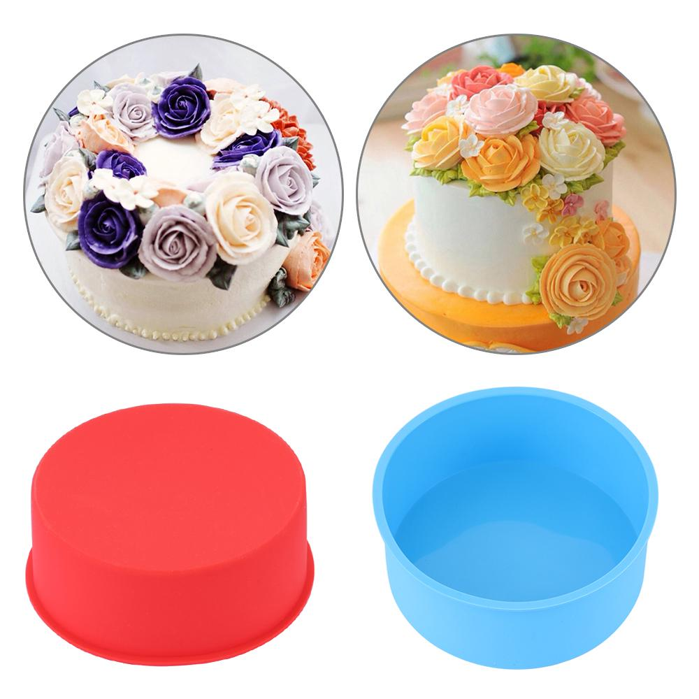 Dish Baking Tools Muffin Mousse Mould Cake Pan Tray Round Pattern Pudding Mold