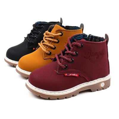 Baby Spring Autumn Boys Girls Children Boots Kids Leather Martin Boots Casual Shoes
