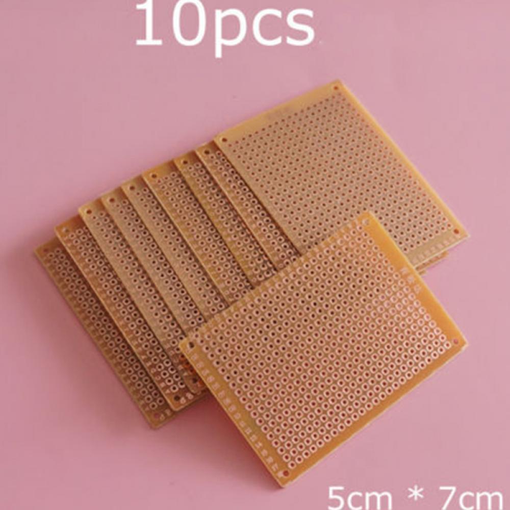 10 Pcs Universal Experiment Circuit Diy Prototype Replacement Pcb Paper Copper Matrix Board 1 Of 7