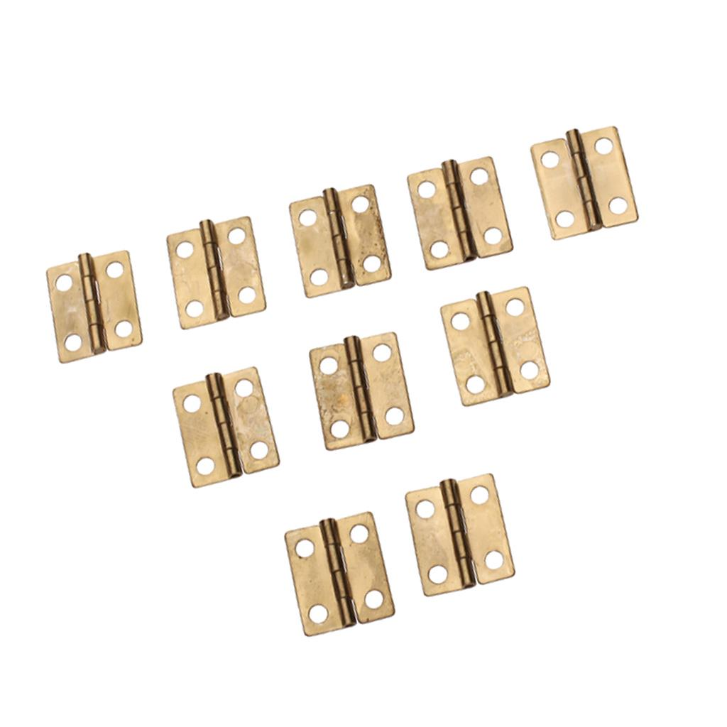 12pcs Butterfly Hinges with Screws Woodworking Craft Supplies House Box Cabinet