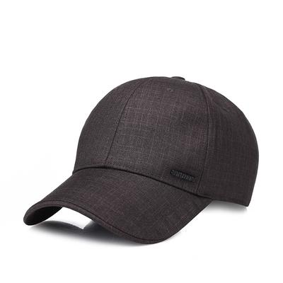 809c4fd7581 Men s Fashion Baseball Cap Middle-aged Sunscreen Sunshade Outdoor Casual Visor  Solid Black Hat