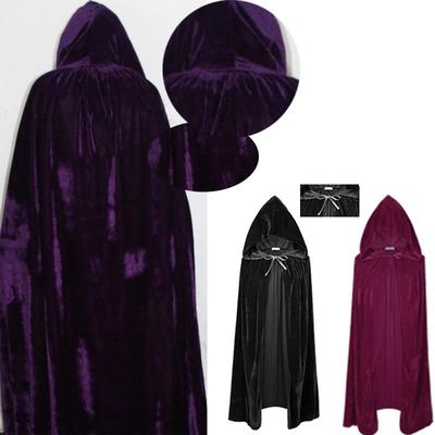 Unisex Halloween Cloak Cape Hooded Halloween Costume Adult Red//Black Duplex