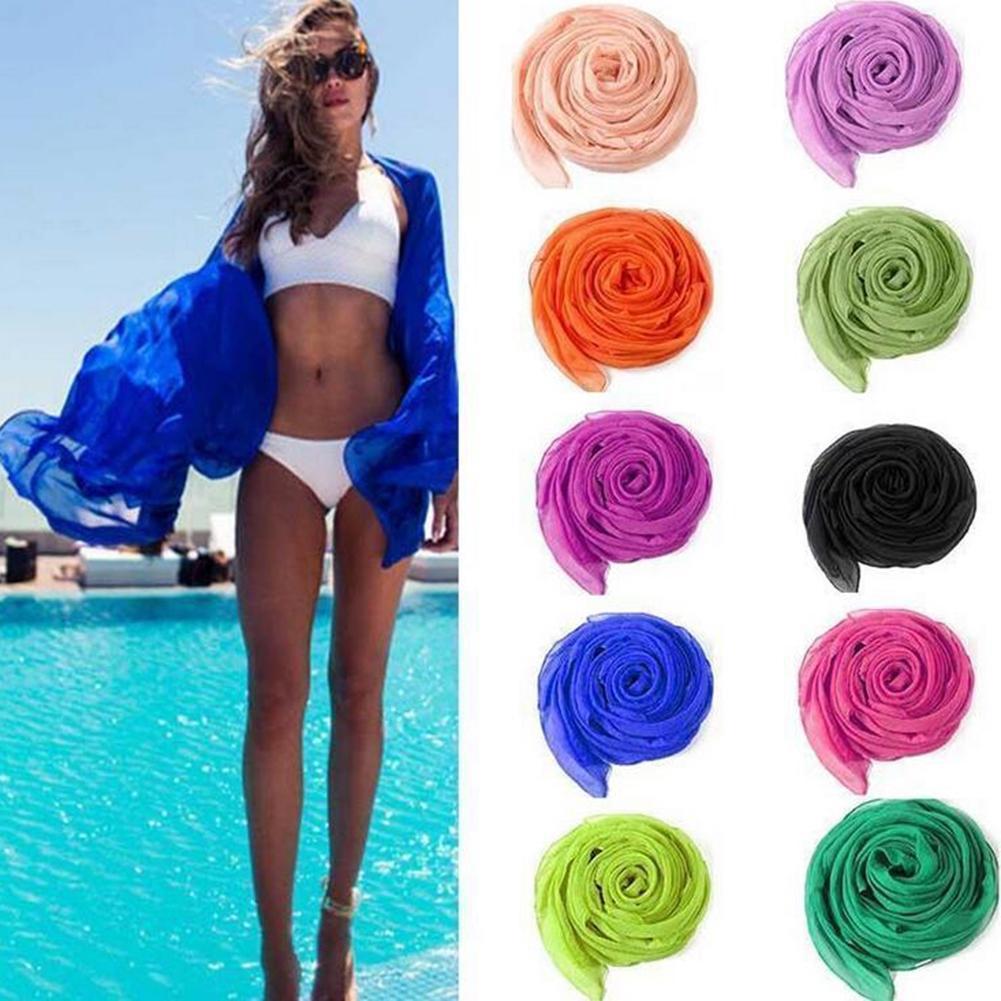 dee6e3bd8f Beauté, Wrap mousseline de soie robe Sarong Pareo plage Bikini ...
