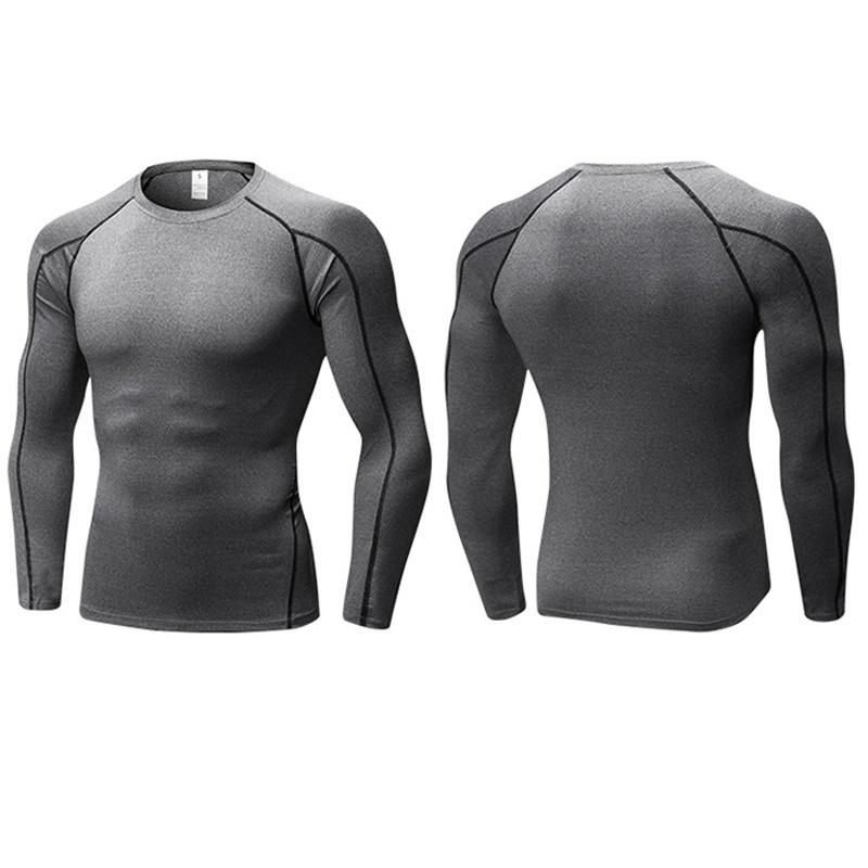 Details about  /Mens Compression Plain Base Layer Top Long Sleeve Thermal Gym Sports Shirt Top
