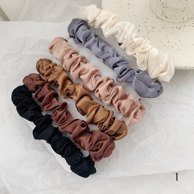 1PC Satin Silk Smooth Hair Tie Elastic Scrunchie Ponytail Holder Hair Rope