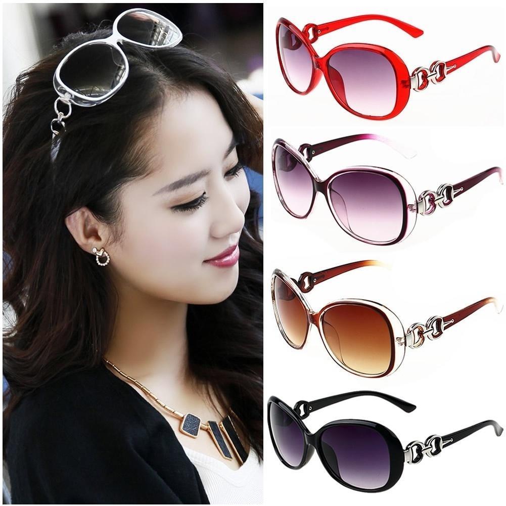 时尚眼镜复古复古超大的女性太阳镜塑料镜框眼镜