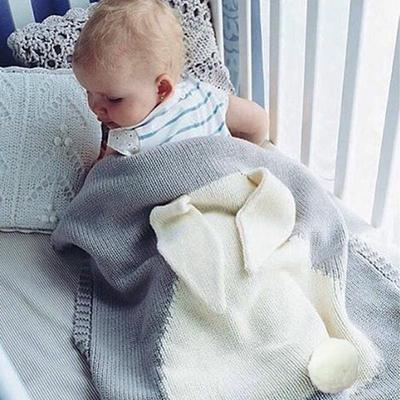 Cheap Sale Trip Blanket Cute Rabbit Knitted Baby Blanket Bed Sofa Sleeping Blankets Bath Towels Play Mat Mother & Kids Blanket & Swaddling