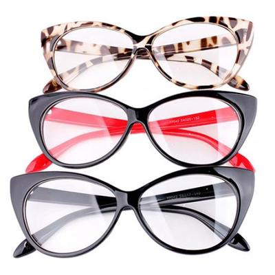 7dd0e0e8e6 Women Classic Sexy Vintage Cat-Eye Shape Plastic Plain Glasses Frame Eyewear