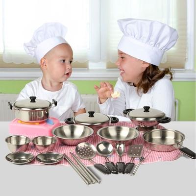 9 Pièces Enfants Bébé Cuisine Ware Cuisson Ustensile semblant Jouer Jouet Pot Pan Set