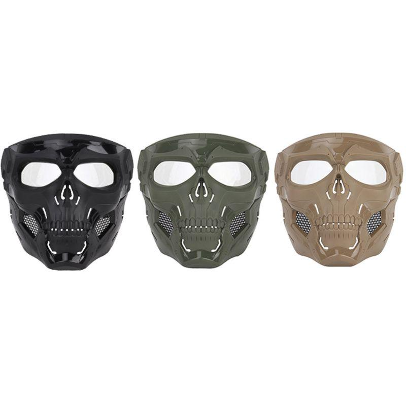 Skull Skeleton Full Face Paintball Cover Cosplay Halloween Party Cover Hunting