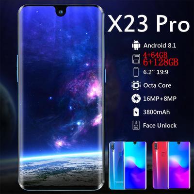 X23 Smartphones 6GB RAM 128GB ROM Face Recognition HD Camera Full Screen