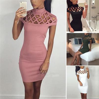 robe soirée Slim crayon femmes bandent Cocktail Mini Les à Bodycon de courtes Party manches b7Ygf6vy