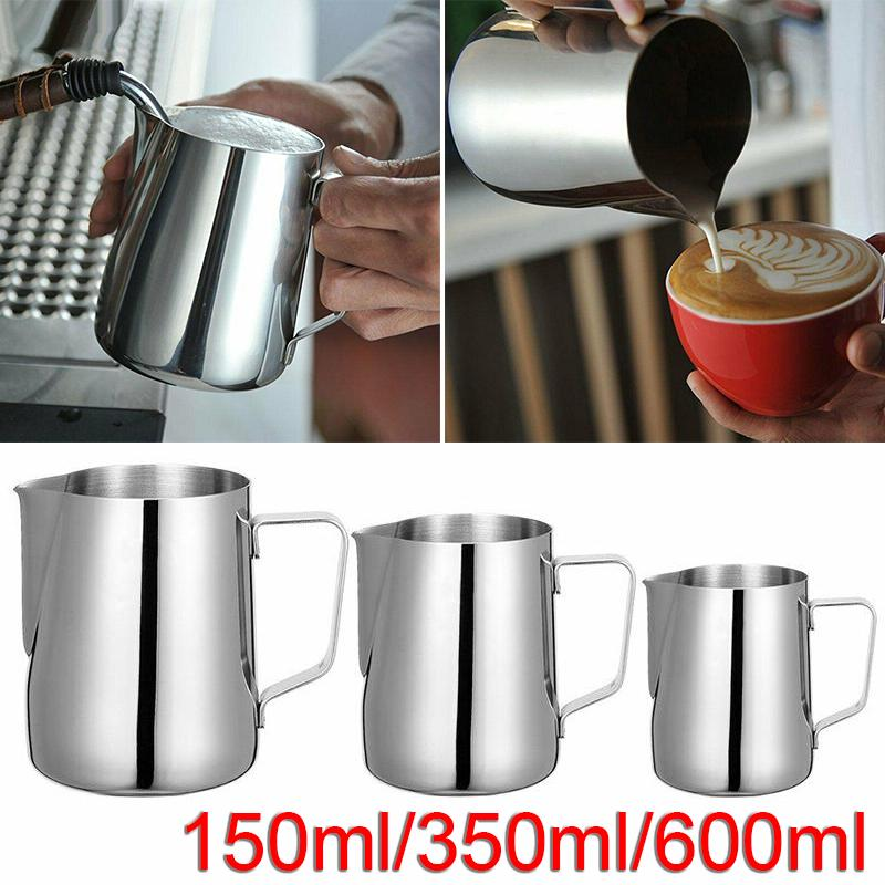 Metal Milk Cafe Mug Frothing Jug Water Latte Pitcher Foam Cup Pitchers Jar Pot A