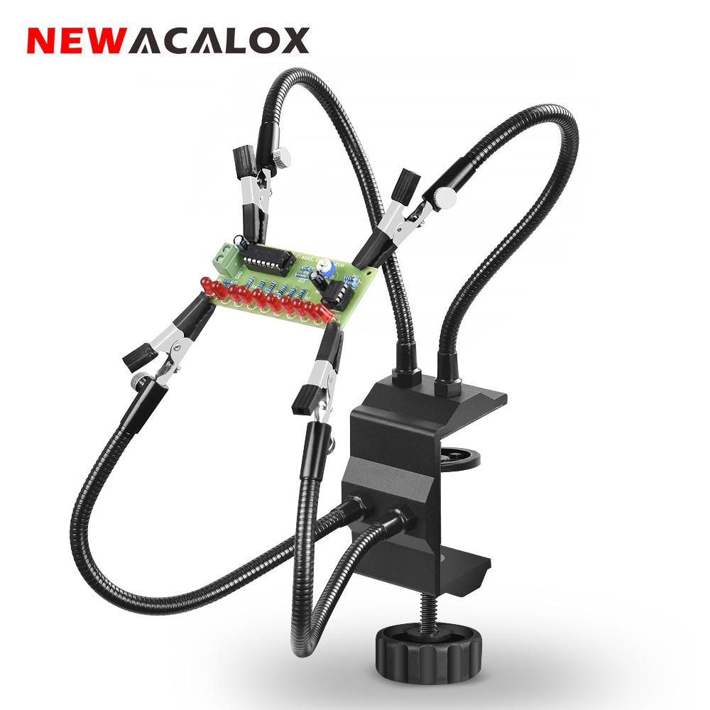 Newacalox Desk Clamp Soldering Station Holder Pcb Alligator Clip Multi Soldering Helping Hand Third Hand Tool For Welding Repair Buy At A Low Prices On Joom E Commerce Platform