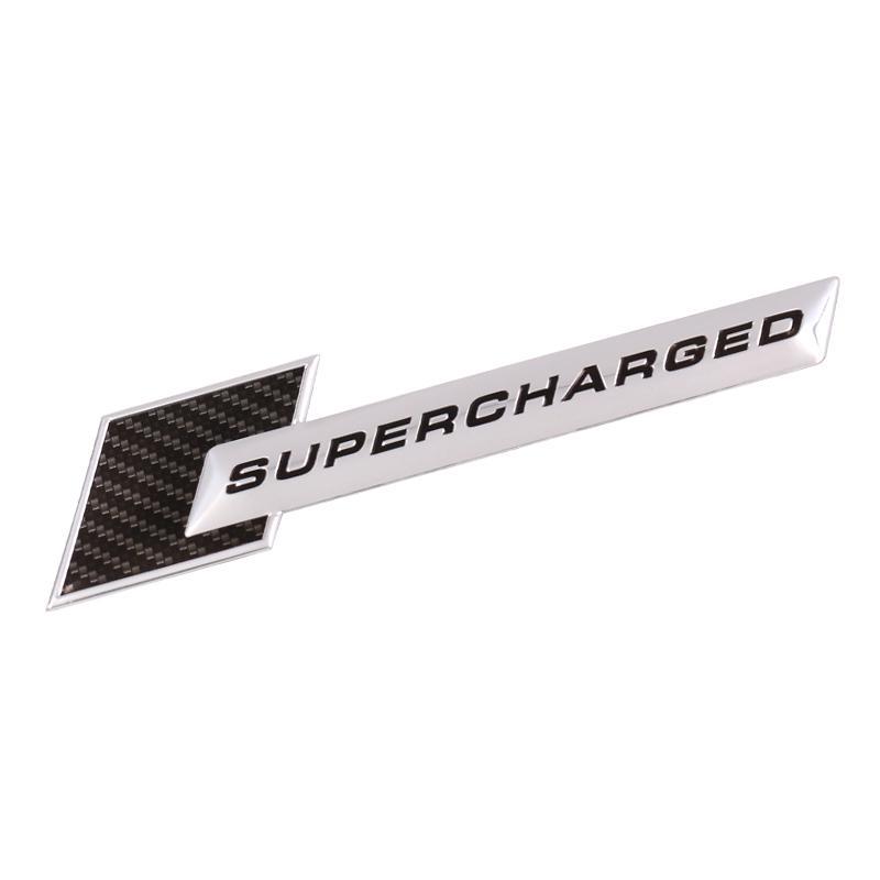 Universal Emblems 1pcs Chrome SUPERCHARGED Emblem