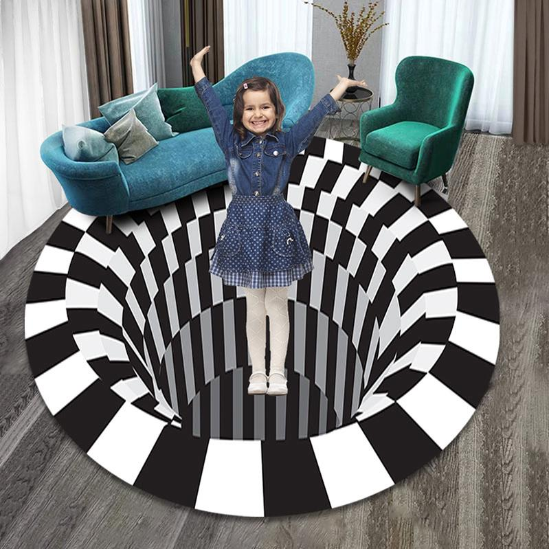 3D Vortex Illusion Rug Swirl Print Optical Illusion Areas Rug Carpet Floor  Pad Non-slip Doormat Mats for Home-buy at a low prices on Joom e-commerce  platform