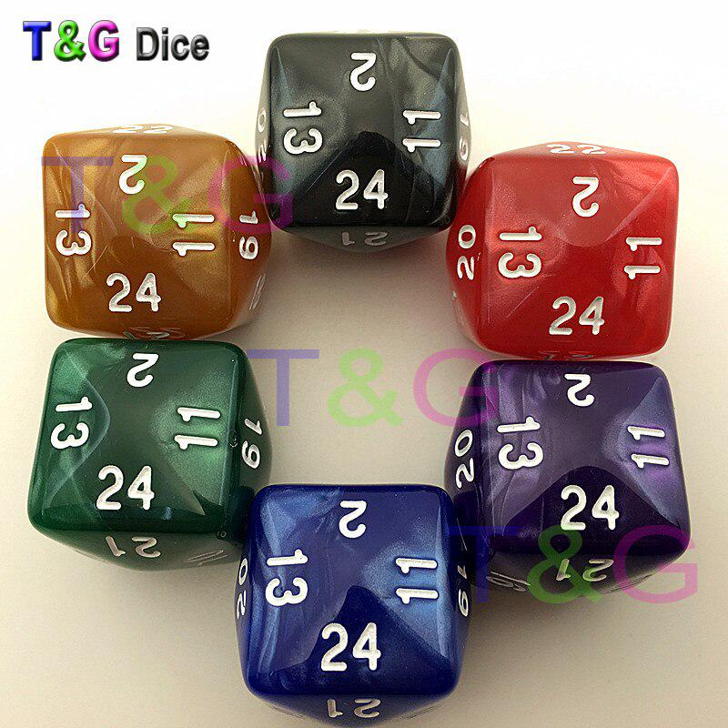 S-TROUBLE 6 Pcs//Set Game Dice 6 Sided D6 24 Points Table Games Desktop Polyhedral For Dungeon D/&D Dragon Games Party Funny Play Creative Dices