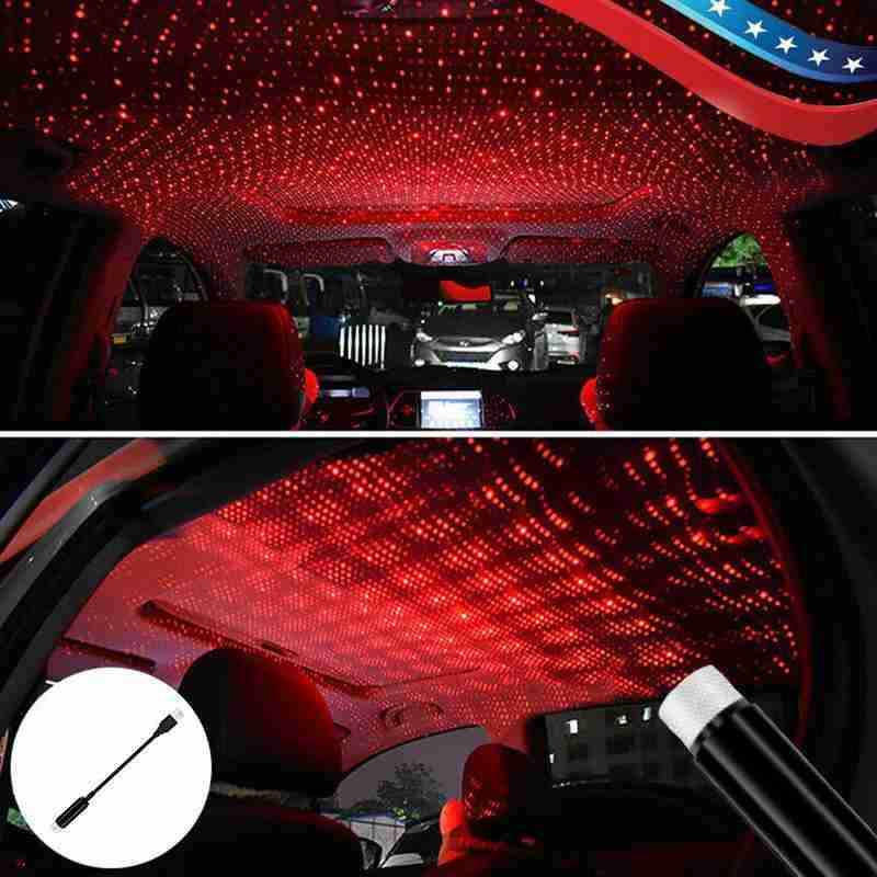 USB LED Car Interior Roof Atmosphere Sky Lamp Star Light for Office Living Room