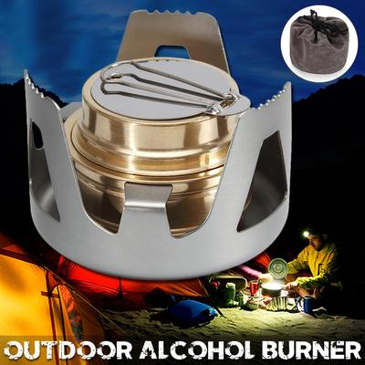 Famgee Outdoor Mini Portable Alcohol Stove Burner for Backpacking Hiking Camping Survival
