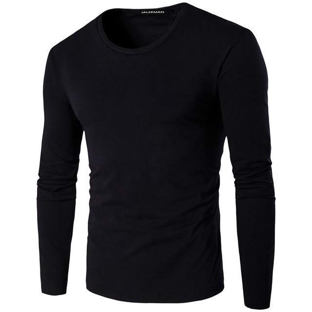Männer Slim Fit Pullover Basic Gestrickter Pullover Rundhals Sweatshirt Tops H//J