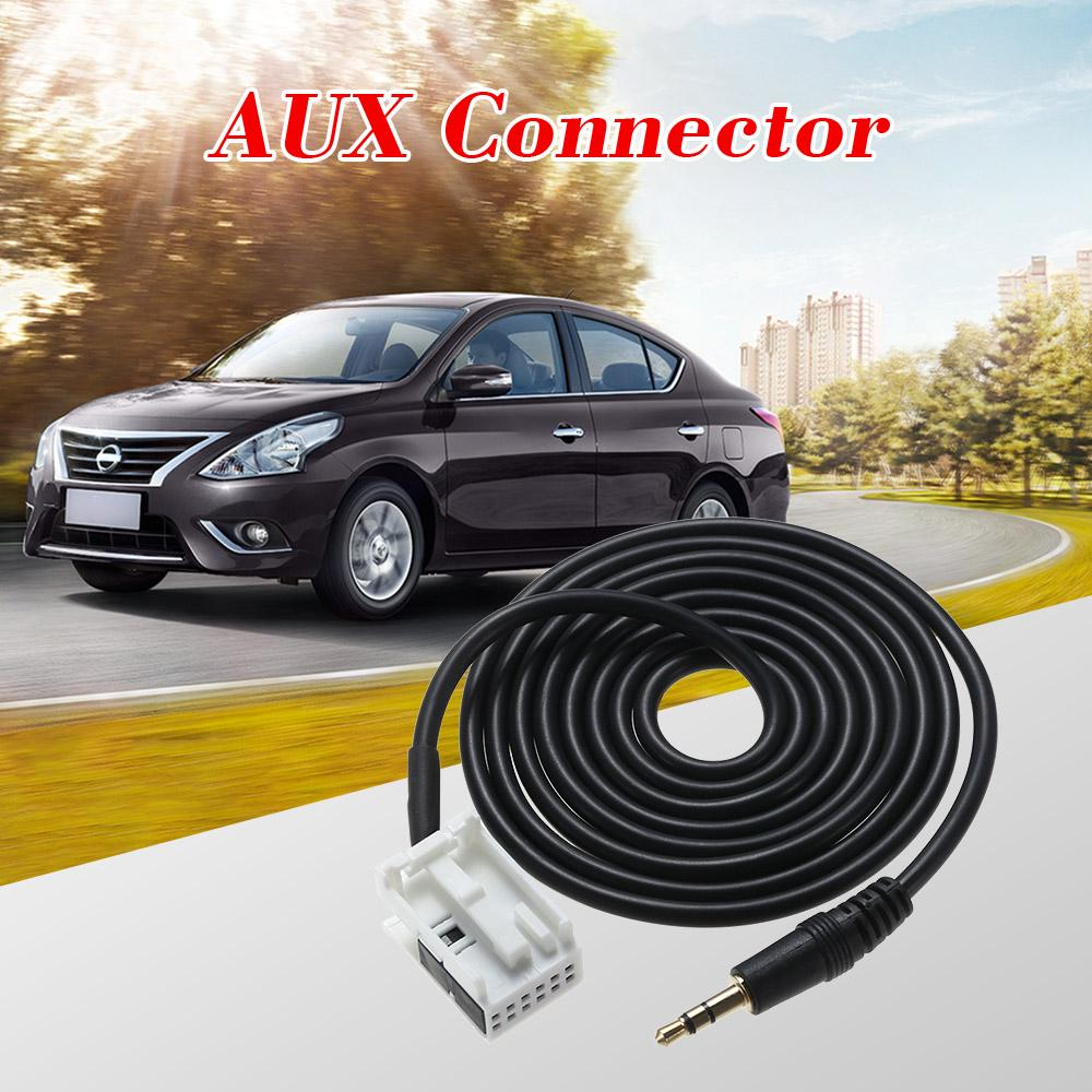 3.5mm Male Plug Aux Input Cable Adapter Wire Lead Cord for Peugeot 307 308