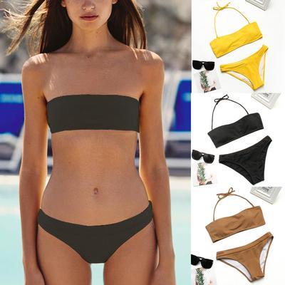 Bikini Push-Up Pad Tankinis Baignade Swimsuit Beachwear Leopard Print Set pour Femelles Maillot De Bain Femme