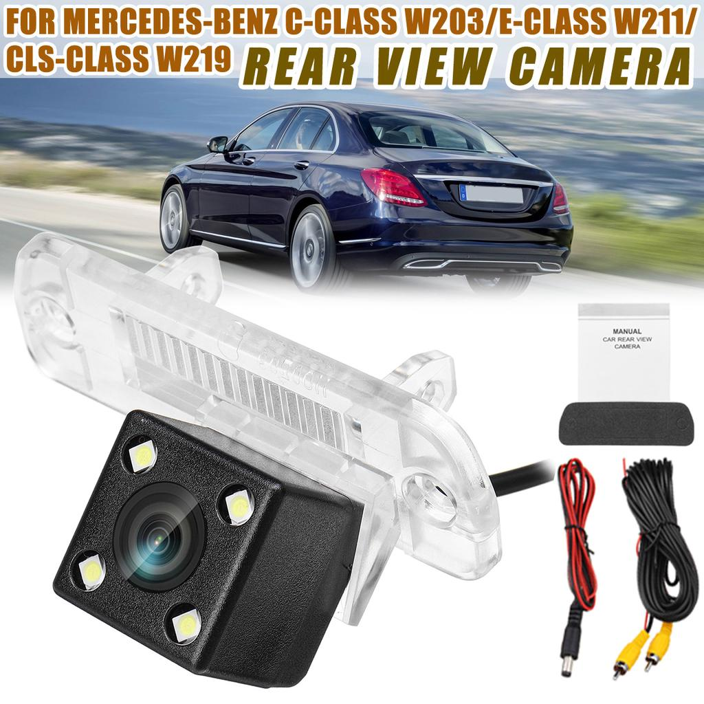 Car Rearview Reversing Camera 170/° Car Rear View Reverse Parking Camera Waterproof Car Reverse Backup Camera for C-Class E CLS W203 W211 W219