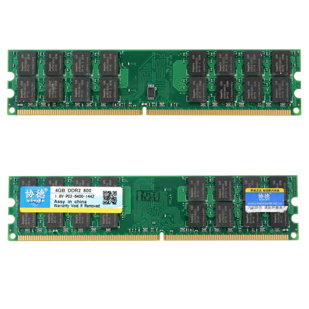Xiede 2x4gb Ddr2 800mhz Pc2 6400 240 Pin Desktop Memory Ram Amd Memori Pc 1gb Kingston 1 Of 4