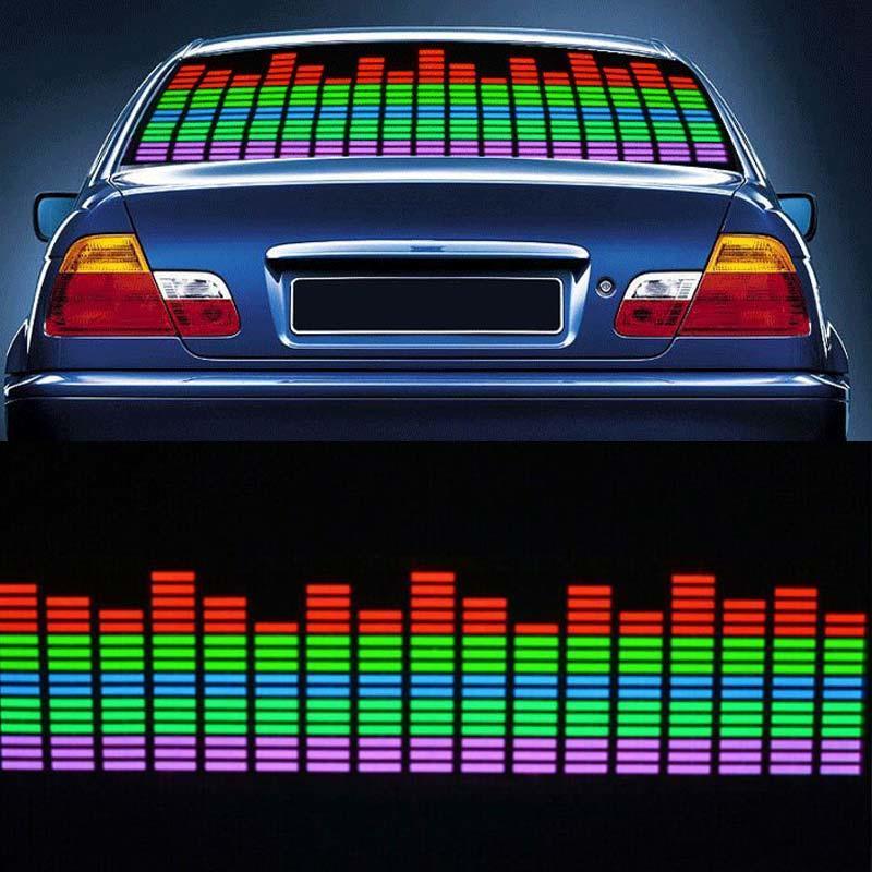 45x11cm Auto Musik Rhythmus Led Licht Lampe Aufkleber Sound Aktiviert Equalizer Equipment Musical Instruments & Gear