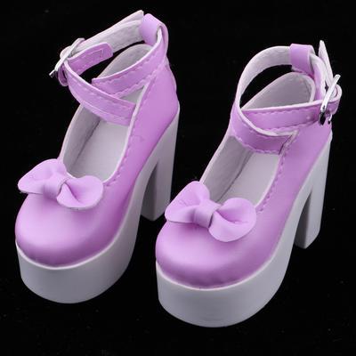 1//6 BJD Shoes Ankle Strap Belt High Heels for Blythe Doll Dress-up Accessory